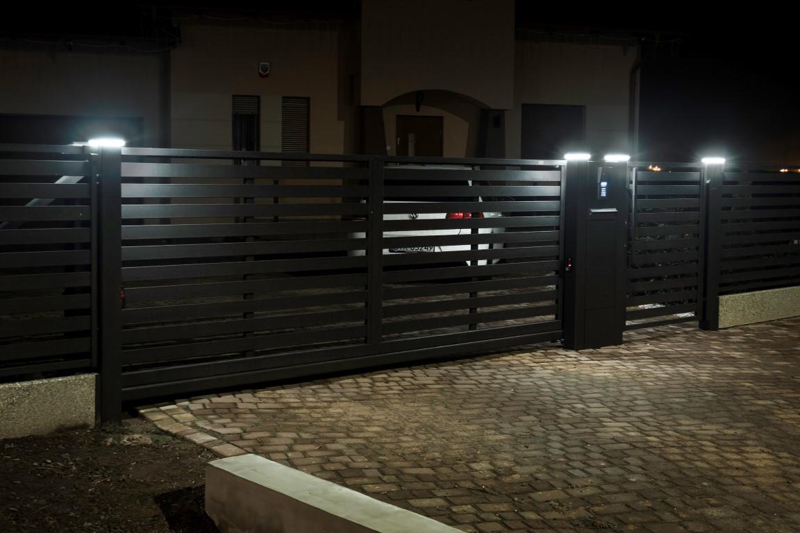 Lampen op poort